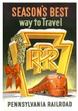 Pennsylvania Railroad: Season's Best Way to Travel. Vintage USA Travel Print/Poster. Sizes: A4/A3/A2/A1 (002696)